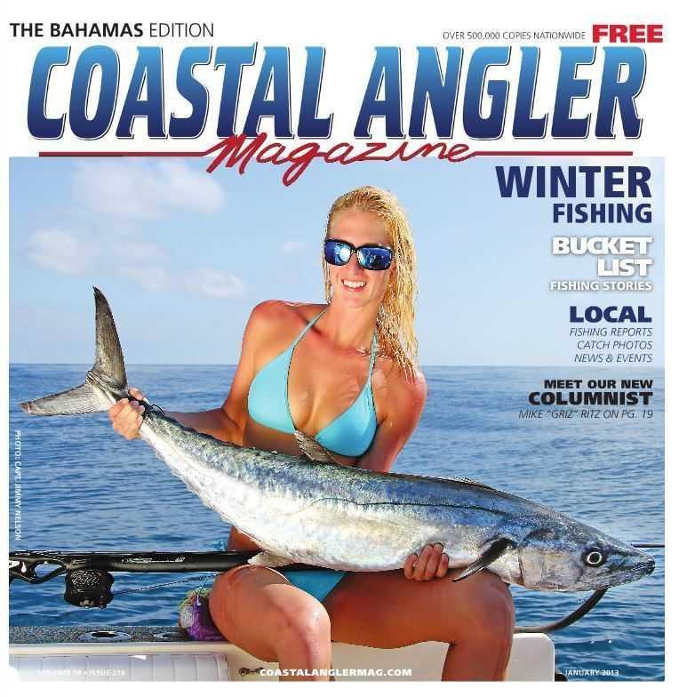 january issue of coastal angler magazine on a rack near you coastal angler the angler magazine. Black Bedroom Furniture Sets. Home Design Ideas