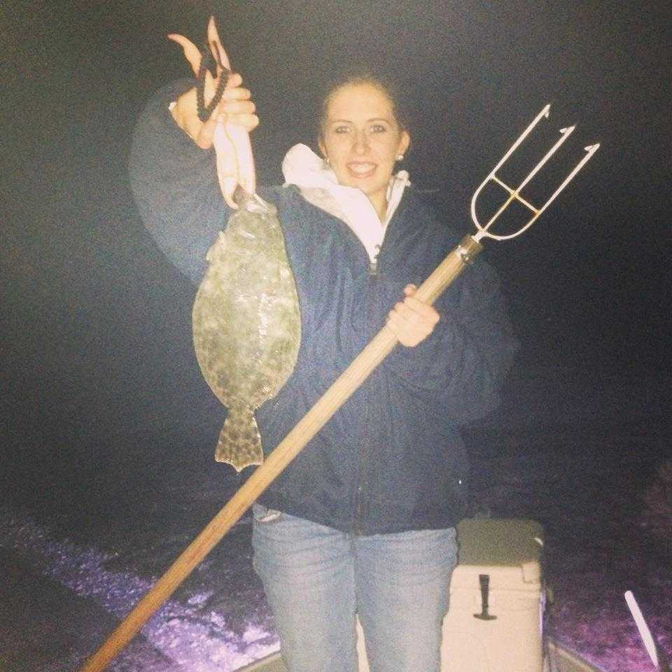 Courtney-with-gigged-flounder