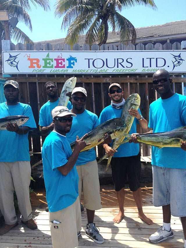 Reef Tours catches 'em up! Photo credit: Keenan Baldwin.