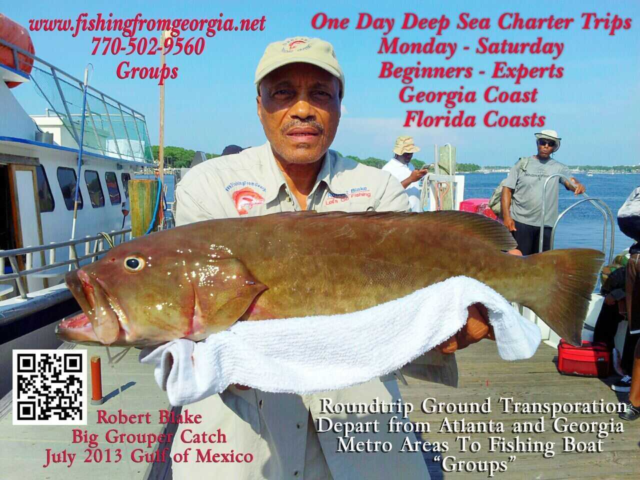 Big grouper catch by robert fishing blake coastal angler for Bob fish west bend
