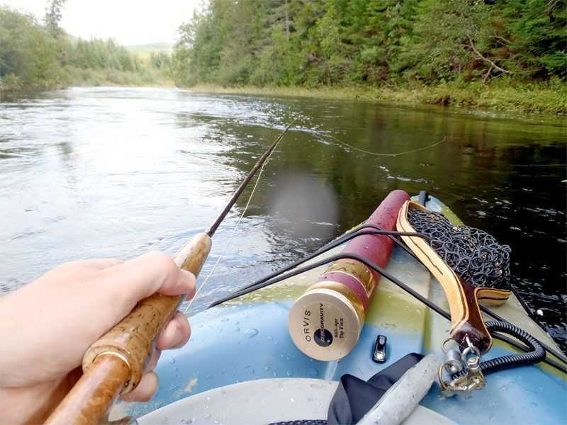 The line between life and death fly fishing from kayaks for Fly fishing kayak