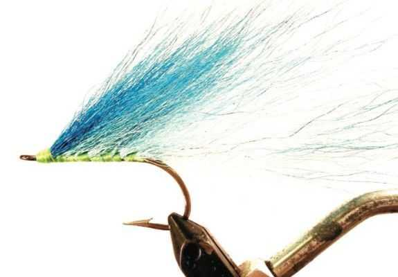 Blue High- Tied Tarpon Streamer – Nothing more than bucktail and a hook. Rather old- school, but I still keep a few in my box.