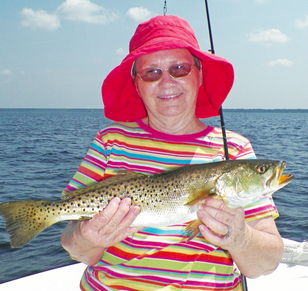 Shelvy Elder of Valdosta , Ga. with a great Smile and a Great trout 5/27.