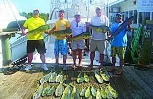 The crew with their catch!