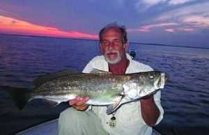 Dick Walters caught this 32-inch trout from Mosquito Lagoon, Fla.