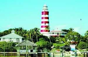 Hope Town is the home of the Elbow Reef Lighthouse, probably the most recognizable land mark in Abaco.