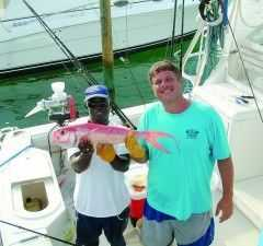 Craig Cephas and JIm Ponzurick queen snapper Photo 1