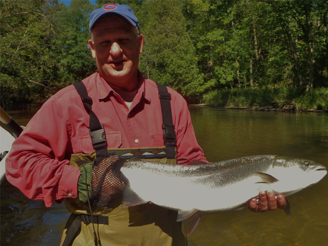 Pere marquette fishing report october 2014 coastal for Pere marquette river fishing report