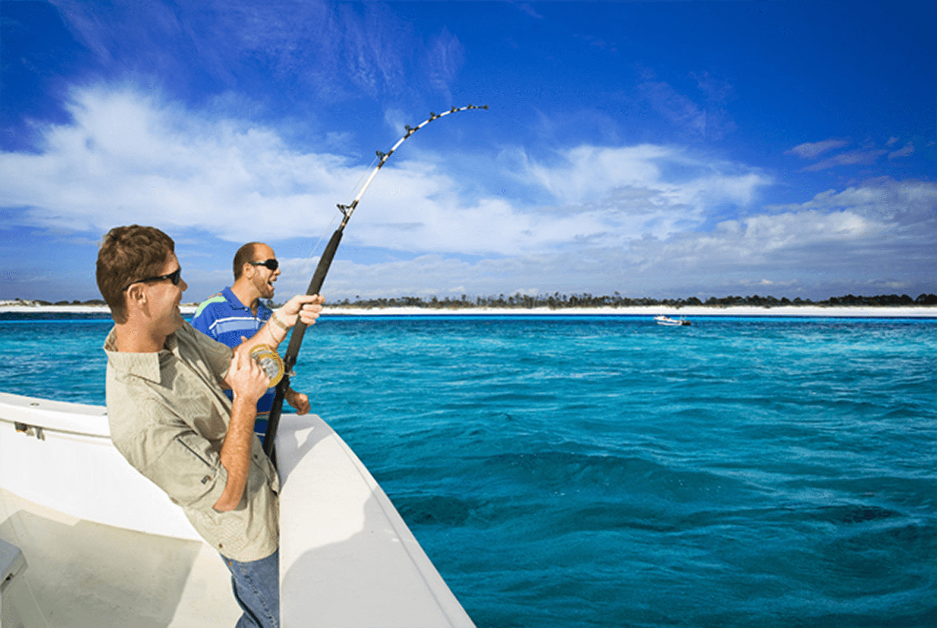 Two Guys Fishing Off Boat2 Png Coastal Angler Amp The