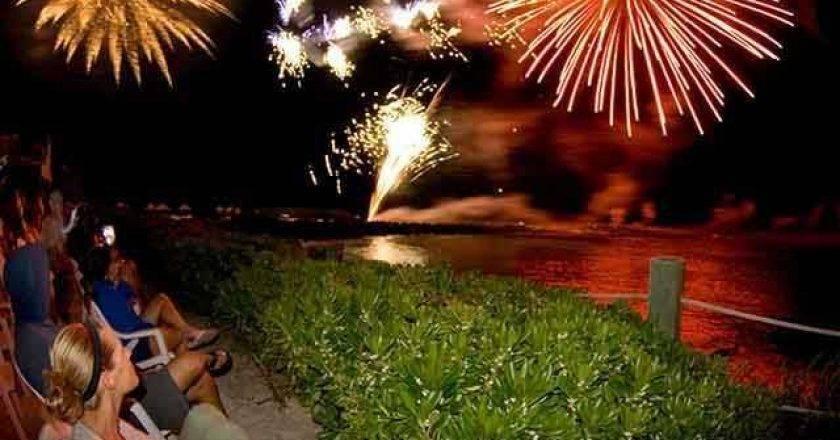 Fireworks at Bimini Sands.
