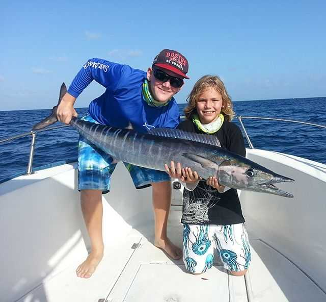 Owen Rothenberg, 10, reeled in this 38.4-pound wahoo back on Labor Day.