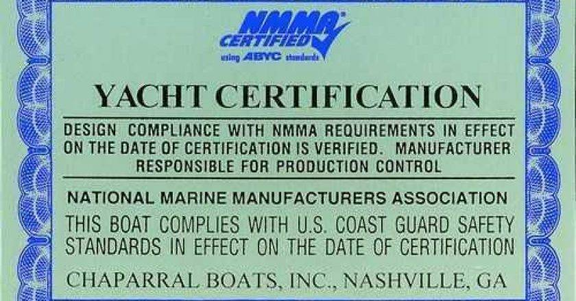 NMMA Certification