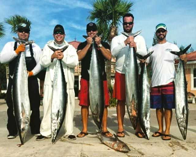 The Makin' It Happen Fishing Team from Miami, fishing out of the Bimini Big Game Club, North Bimini, caught these 'hoos on January 3, 2015. PHOTO CREDIT: Alexander Jimenez.