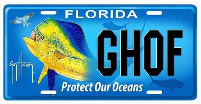"""Protect Our Oceans"" Florida specialty license plate to support the Guy Harvey Ocean Foundation ..."