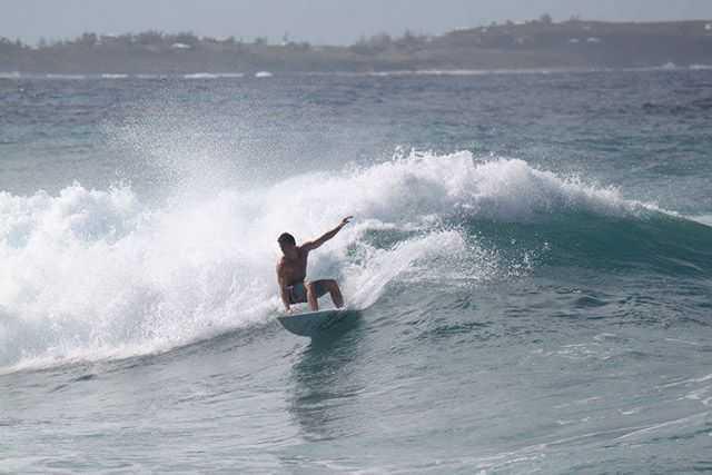 Pray for surf, like these conditions being enjoyed by Nathan Lowdermilk. PHOTO CREDIT: Liz Heiberg-Glucksmann.