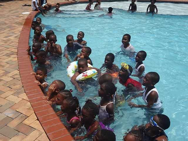 The splish, splash and laughter from dozens of local children will be a common scene at the Bimini Big Game Club Resort & Marina as management hosts the swimming camp sessions for the Royal Bahamas Police Force¹s 2015 Summer Camp through July 31st.