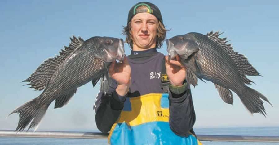 You'll find big sea bass on the high points in 35- to 50-foot depths all around Block Island. The area around the Hooter Buoy is a great starting point.