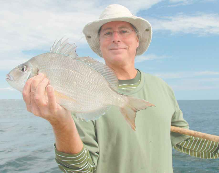 Fall porgies come big on Long Island's South Shore reefs. This slab fell to a lucky angler aboard the Shinnecock Star.