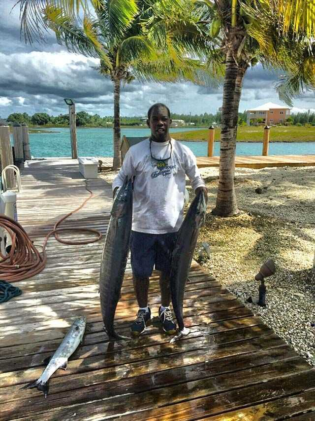 "Capt. Johnaceo ""Nay Nay"" Saunders proving the wahoo have hit the offshore waters of Grand Bahama Island as of mid-October. PHOTO SUBMITTED by Capt. Johnaceo Saunders."