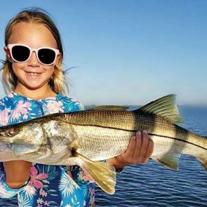 Camille Caravello caught herself this sweet snook from the beach.