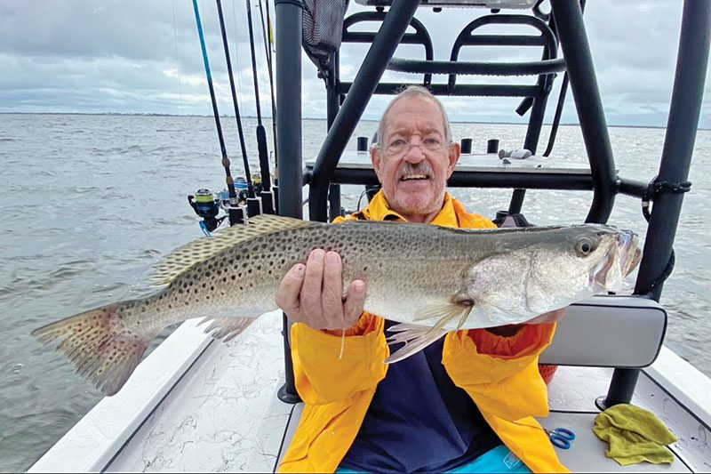 Mickey with a nice trout!