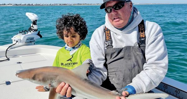 This guy caught his blacktip shark and a bunch of other species on his charter!