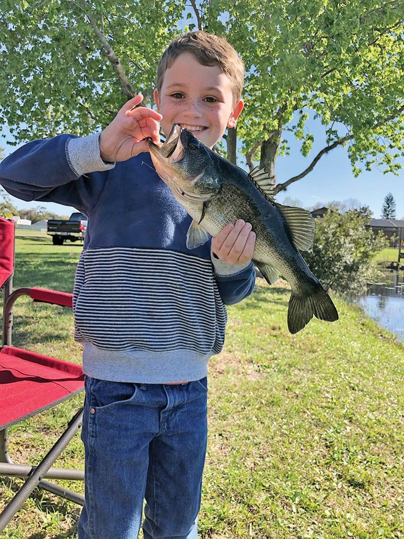 Tanner's first bass!