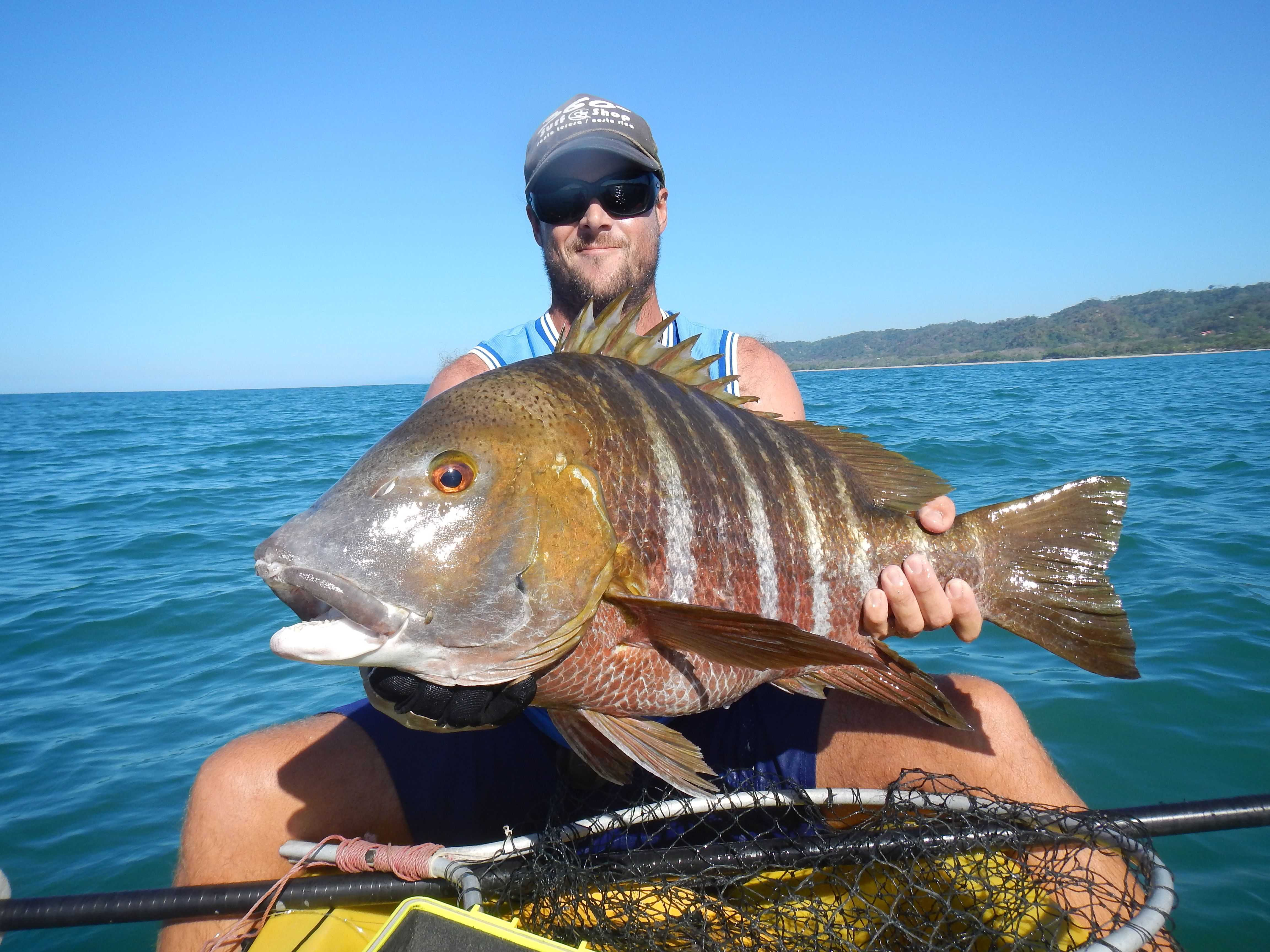 Kayak fishing techniques trolling for monsters in costa rica for Big sur fishing