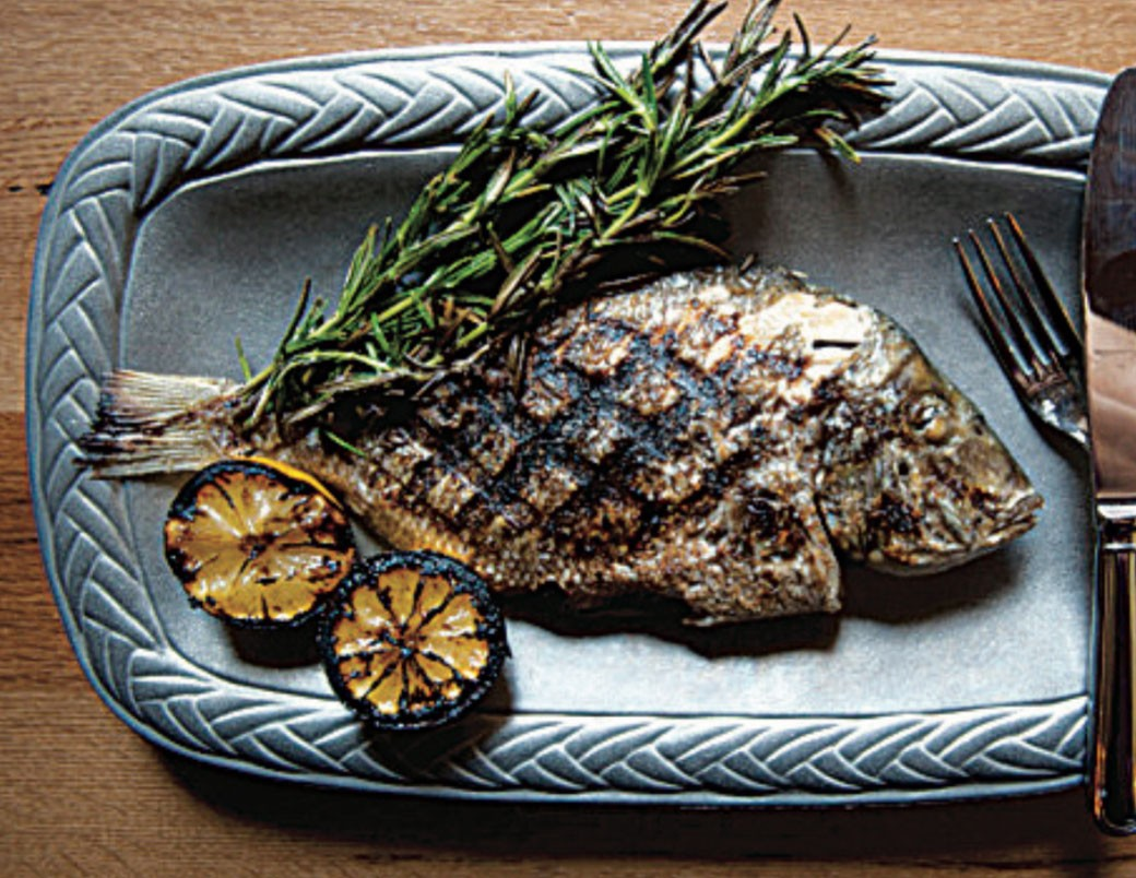 Grilled Whole Pan Fish