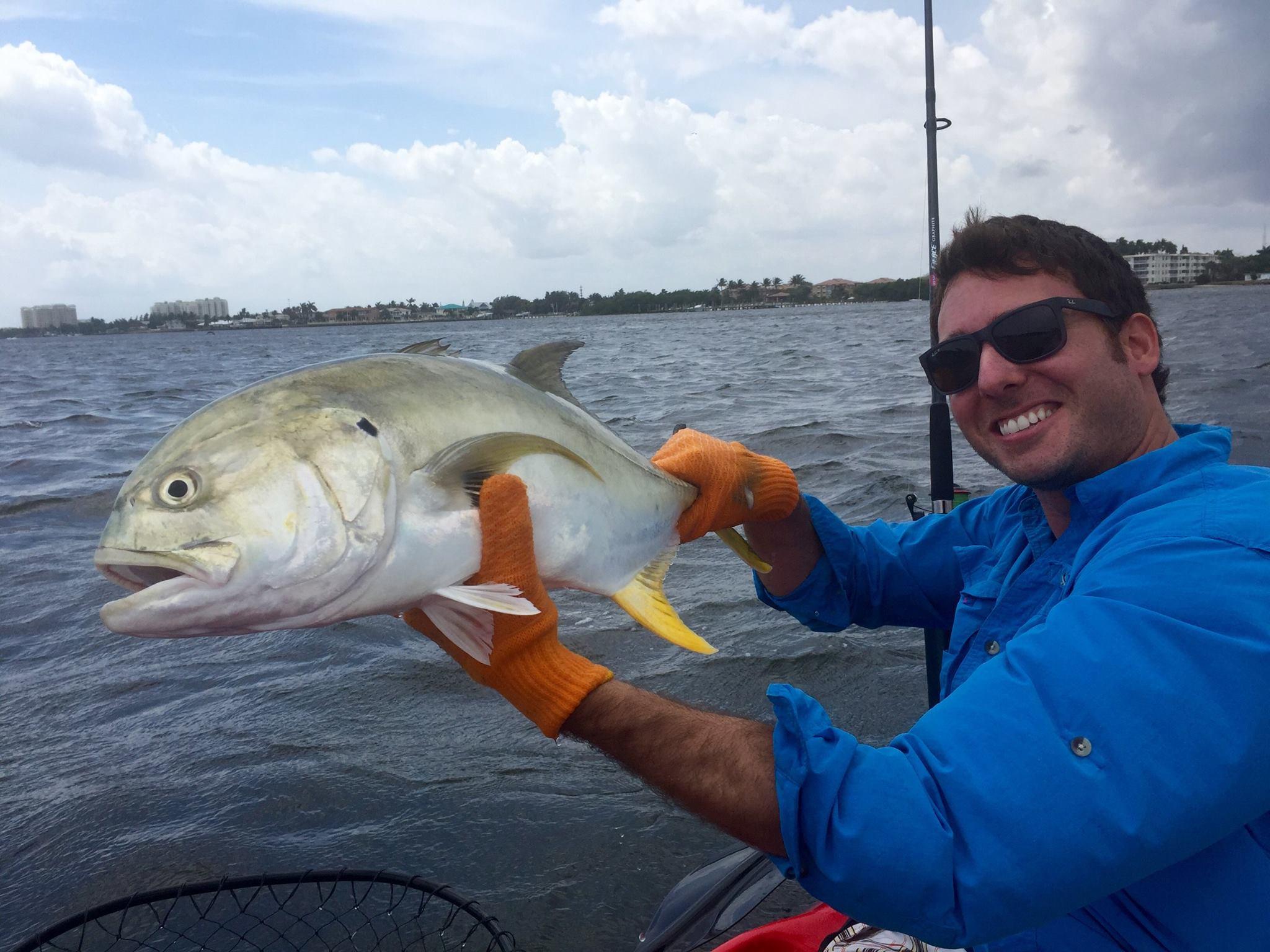 Michael brevda landed this jack from his hobie kayak near for Boynton beach fishing