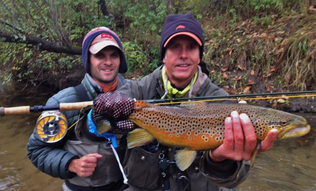 Pere marquette river fishing report october 2016 for Hubbards fishing float