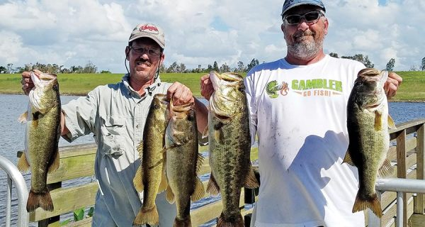 Mark Escobar and Greg Moule with a winning bag in the Bass n Fools tournament.