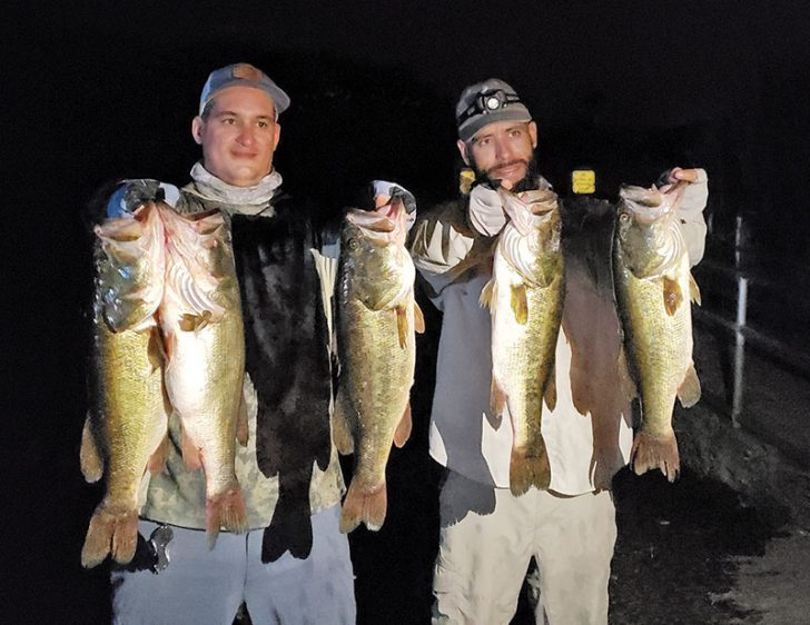 Fishing at night can produce quality fish.