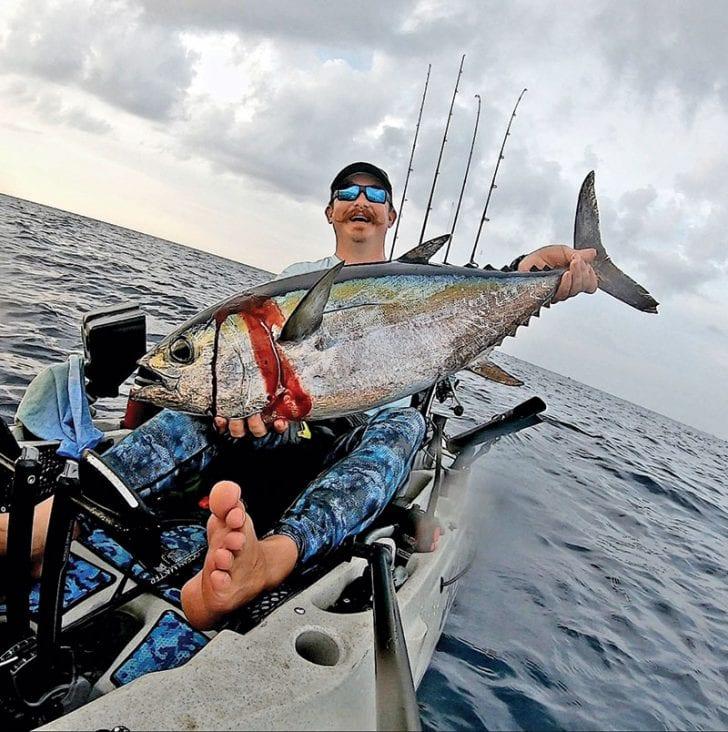 Eric Clark aka @elpescadoreric scored a nice blackfin tuna from his kayak.