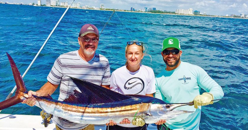 Nice sailfish caught on a New Lattitude sportfishing charter in Fort Lauderdale. Sailfish season is here. Are you ready?