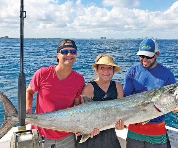 A huge kingfish caught with Fishing Headquarters.