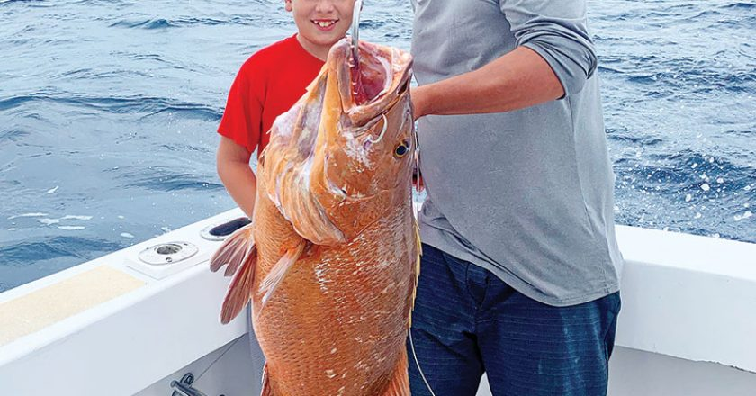 Big cubera snapper caught with Fishing Headquarters.