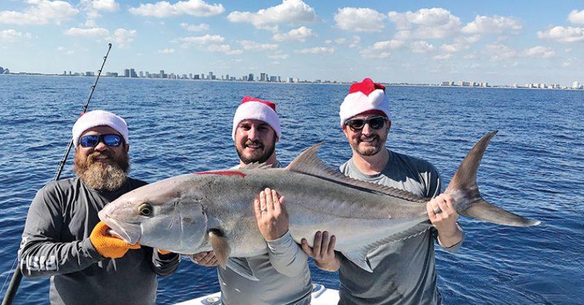 Big amberjack caught with New Lattitude Sportfishing.