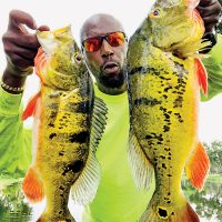 Marcus Good with a pair of nice peacock bass.