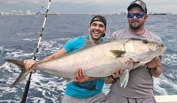 Slob amberjack caught on a charter trip with Fishing Headquarters.