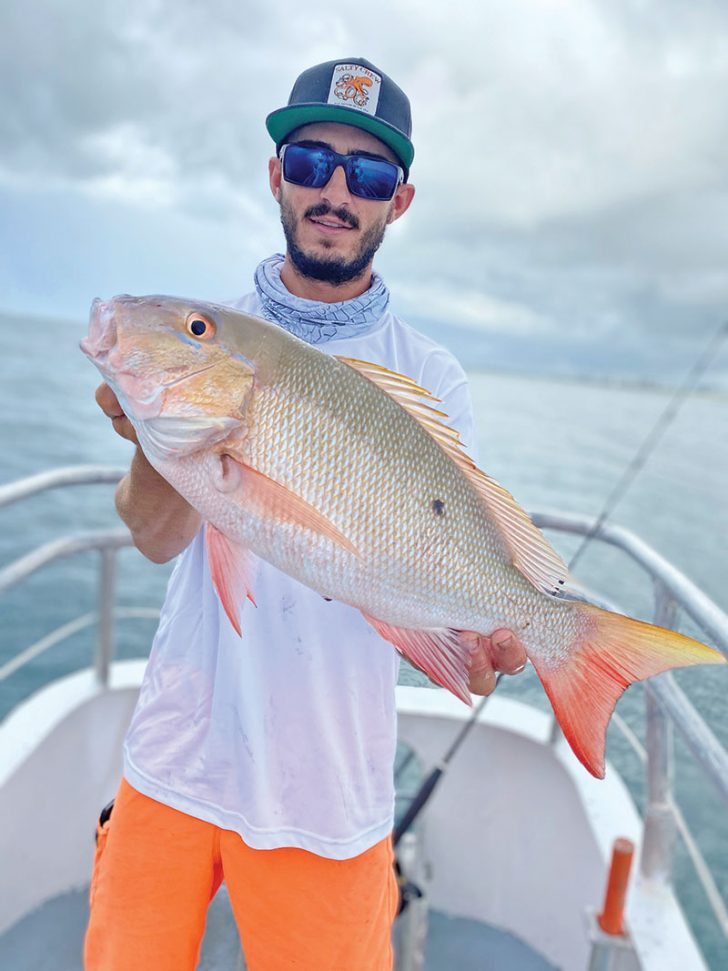 July is prime time for mutton snapper on the Catch My Drift.