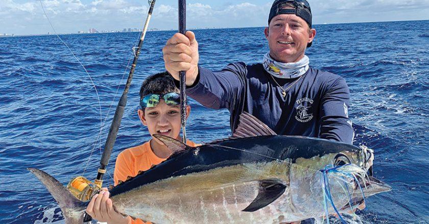 Nice blackfin tuna caught with Fishing Headquarters.