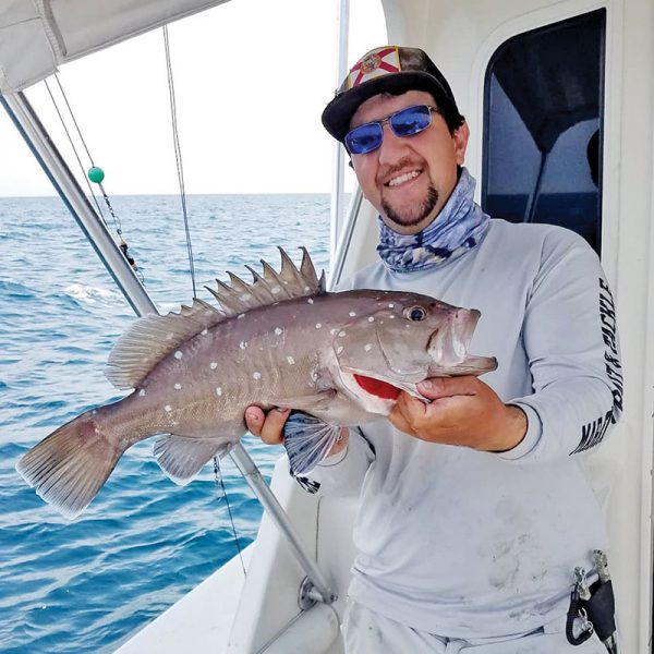 Loyal reader Chris Pascual caught his first snowy grouper off Fort Lauderdale.