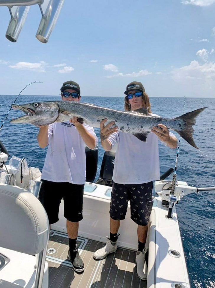 This slob of a barracuda crashed team Reel Line's party during a recent tournament.