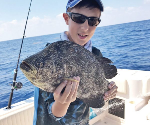 Jimmy O'Connor caught this tripletail using cut bait, 10 miles off Pompano Beach.