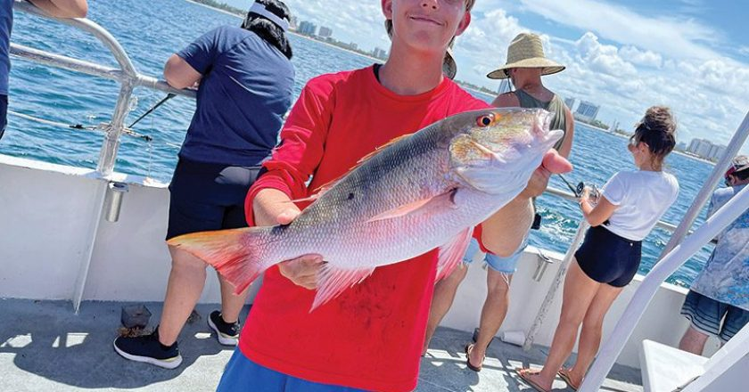 Mutton snapper caught with Fishing Headquarters.
