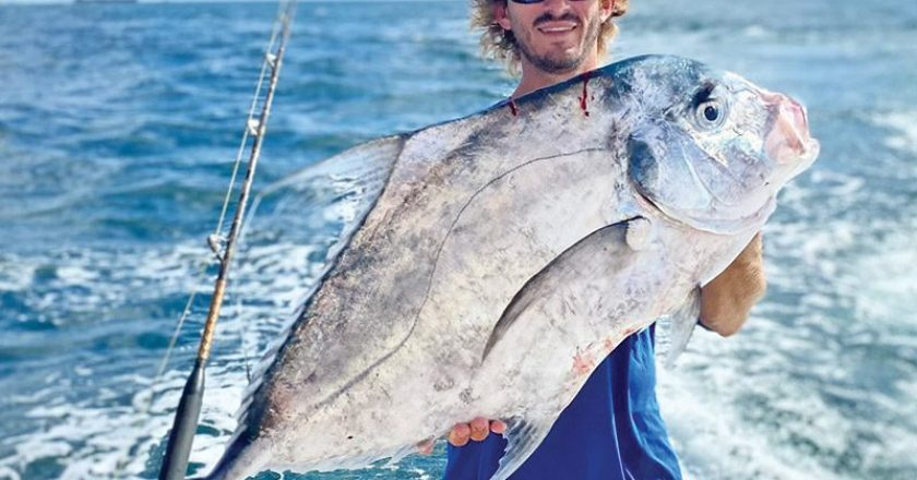 Big African pompano caught with Fishing Headquarters.