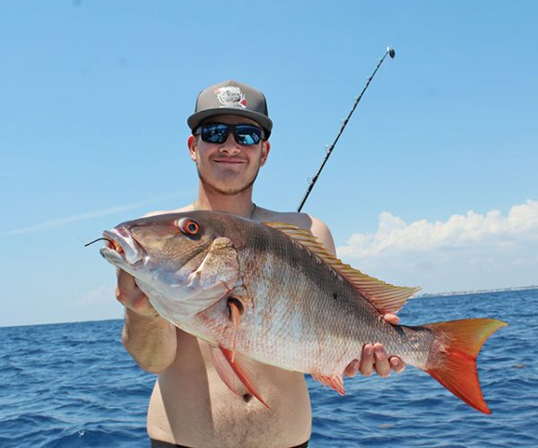 Shawn McCarty, aka @pnizzle_ caught this nice mutton snapper on a ballyhoo plug.