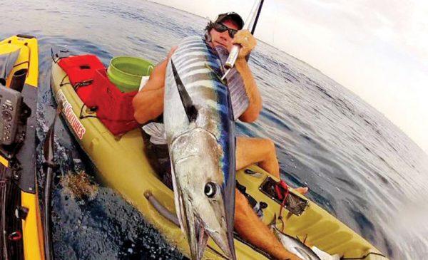 Joe Hector slayed this wahoo from his kayak.