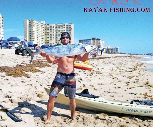 Joe Hector with a nice king caught from his kayak.